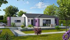 ... maison moderne avec garage à toit plat. Constructeur maison Maisons