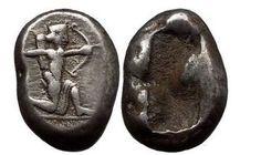 Ancient Coins - DARIUS I, The Achaemenid King of Persia, 490 B.C. AR Siglos. Shooting King.