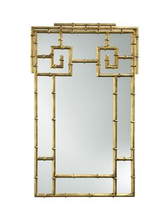 A gold-painted iron mirror...yes please! #hgtvmagazine http://www.hgtv.com/decorating-basics/the-highlow-shopping-guide/pictures/page-6.html?soc=pinterest
