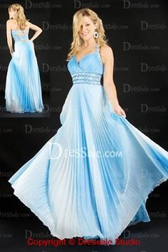 Sky Blue Halter Mother Of Bride Dresses for Beach Wedding, is it too flowy?