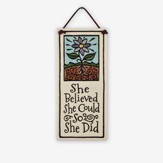 Spooner Creek: Small Tall Tiles: She Believed