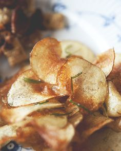 Homemade rosemary potato chips are the perfect road trip snack.