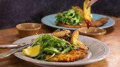 Filet of Beef Milanese and Garlicky Oven Fries Recipe