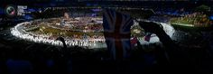 78 The Great Britain team parade during the opening ceremony of the London 2012 Olympic Games . ADREES LATIF/REUTERS
