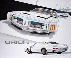 Oldsmobile Orion Concept Car – Brad Leisure Design via bradleisure.com