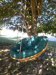 Hanging chair swing....i know what to do with the papasan chair for my son's room