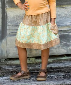 Look what I found on #zulily! Apricot Pin Dot Peasant Skirt - Infant, Toddler & Girls #zulilyfinds