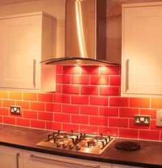 red wall tiles kitchen photo of tiled splashback kitchen with white 4613