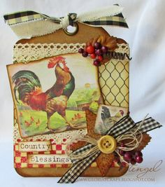 Country Blessings Tag -  Gloria Stengel
