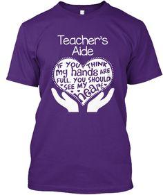 Teacher's Aide T-shirt - Full Heart