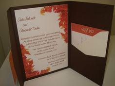 Pocket Wedding Invitation - 2010