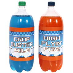 Get blue and orange Gatorade for Planes party Disney Planes Birthday, Disney Planes Party, Christmas Party Drinks, 4th Birthday Parties, 3rd Birthday, Birthday Ideas, Airplane Party, Bottle Labels, Drink Labels