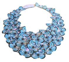 Hey, I found this really awesome Etsy listing at https://www.etsy.com/listing/75059429/blue-butterfly-bib-statement-necklace