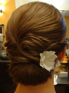 Bride, Low Chignon,