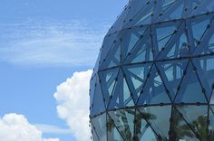 """Wow: """"#Ball 0 Glass Enigma against the Clouds and Blue"""" #FriFotos by @5wa"""