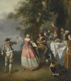 'Fête Chmpêtre with a Dancing Couple', Nicolas Lancret Oil Painting App, Oil Painting Supplies, Oil Painting For Sale, Francisco Goya, High Society, Jean Antoine Watteau, Baroque, Art Ancien, Jean Baptiste