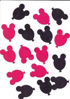 Die Cuts  Disney Mickey Balloon Heads Red/Black by countrycroppers, $1.14