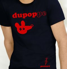 "Image of T-shirt Men/Unisex in cotone ""dUpoPPE bY pEoNEs"". Esclusive design. Capo nuovo. Stampa Red."