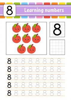Trace And Write. Learning Numbers For Kids. Preschool Writing, Numbers Preschool, Preschool Learning Activities, Learning Numbers, Preschool Curriculum, Learning To Write, Preschool Alphabet, Alphabet Crafts, Alphabet Letters