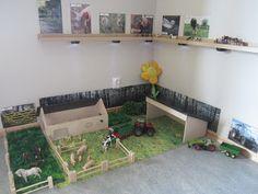 Small world play Farmcorner from www.kreativabarn.blogspot.com