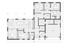 grundriss erdgeschoss bungalow in u form m 10 188 1 hausplan pinterest bungalow haus and. Black Bedroom Furniture Sets. Home Design Ideas