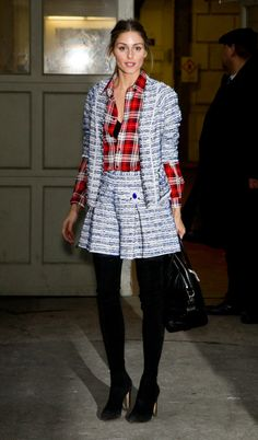 771c09ae214f Olivia Palermo attended the Marchesa show during Mercedes-Benz Fashion Week  Fall 2014 at the