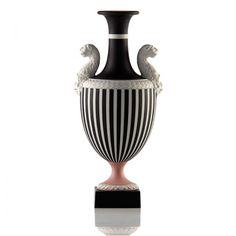 Wedgwood Prestige: Panther Vase (Limited Edition of 20) ($4,970) ❤ liked on Polyvore featuring home, home decor, vases, geometric vase, wedgwood vase, wedgwood and geometric home decor