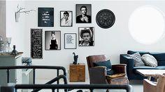 Loft v black & white Home Living, Gallery Wall, Loft, Black And White, Classic, Frame, Inspiration, Home Decor, Spy