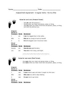 TeacherLingo.com $2.00 - Mini lessons on Irregular verbs, subject verb agreement and the forms of be