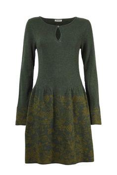 Dress Forest Structure Devore - Dress   Ivko Woman