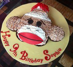 Sock Monkey Cupcakes Cake