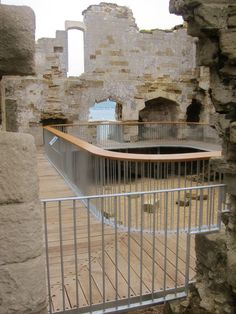 sandfoot castle - somerset - henry viii - 1539-41 -  conservation + visitor walkway - levitate - 2012