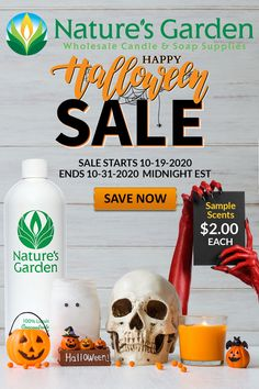 Sale ends soon! Halloween Scents only $2.00 each at Natures Garden.