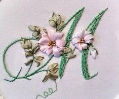 A letter embroidered with ribbons and threads. It is perfect to be used as a wedding present. Also, this embroidery is a very good choice to give as a jubilee/anniversary gift. This product is made to be hung on a wall, put on a table but also to be sewn onto fabrics, backpacks,