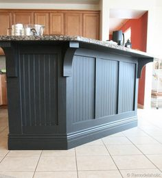 Kitchen Island Makeover With Corbels: Part Two - Remodelaholic