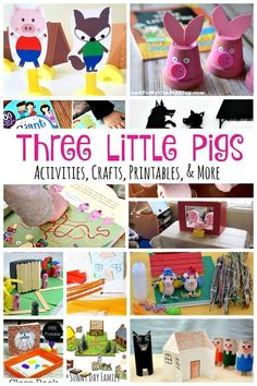 15+ Three Little Pigs activities, crafts, games, and books! The ultimate collection of Three Little Pigs activities for kids - including free Three Little Pigs printables, Three Little Pig crafts, and more!