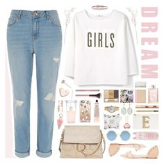 """""""Dream Girls"""" by ealkhaldi ❤ liked on Polyvore featuring MANGO, River Island, Loeffler Randall, DANNIJO, Iphoria, Chloé, Kate Spade, Urban Decay, Tony Moly and Sephora Collection"""