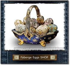 A basket of Faberge eggs