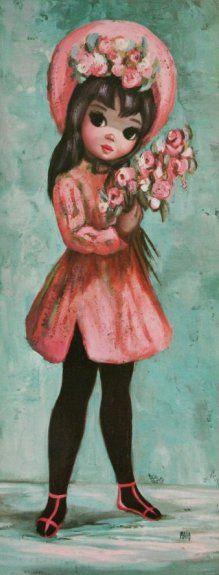 Big Eye Paintings by Keane Eye Painting, Painting Of Girl, Retro Art, Vintage Art, Big Eyes Paintings, Girl Paintings, Keane Artist, Big Eyes Artist, Eye Art