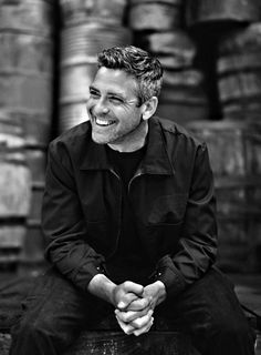 That Clooney smile is contagious.