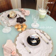 Manda bem na cozinha e sabe decorar a mesa para servir os convidados? Faça como a @felizlar e envie para gente as suas fotos nas redes sociais usando a #MinhaCamicado