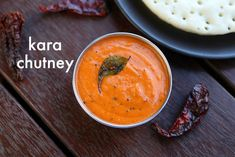 how to make kara chutney recipe, side dish for dosa with step by step photo/video. spicy & tangy red colored chutney recipe, for dosa, idli, appam idiyappam
