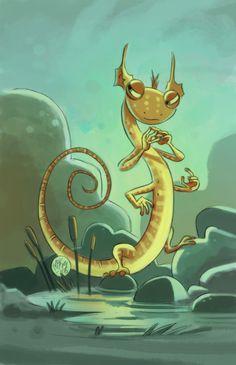 Salamander Snoop by mikemaihack on deviantART