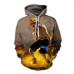 Funny One Piece Angry Powerful D. Ace Anime Artwear 3D Hoodie  #Funny #One #Piece #Angry #Powerful #D. #Ace #Anime #Artwear #3D #Hoodie #Konohastuff