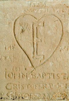 Tower of london graffiti - Giovanni Battista Castiglione's heart