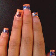 Cute Detroit tiger nails :)