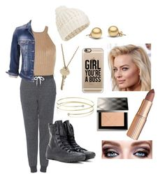 """Casual Friday"" by kayleigh-zz ❤ liked on Polyvore featuring Topshop, maurices, Accessorize, Converse, Elsa Peretti, The Giving Keys, Casetify, CO and Burberry"