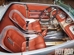 05 Couprageous Mid Engine Twin Turbo 1937 Ford Coupe Interior