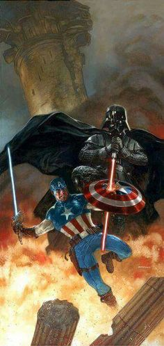 Had trouble deciding where to put this😜marvel or Star Wars but it looks like Vader is out powering Captain America so Star Wars it is😜😂😂 Marvel Comics, Marvel Vs, Darth Vader, Comic Books Art, Comic Art, Star Wars Legacy, Be My Hero, Star Wars Characters, Photos Of The Week