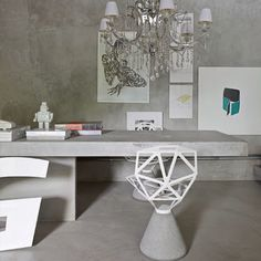 Concrete interior with grey inspiration